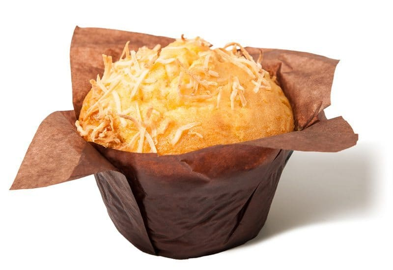 Orange, Coconut and White Choc Texas Muffin
