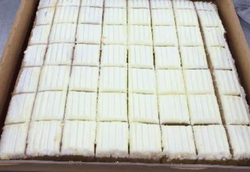 Sponge Apple Icing Half Slab