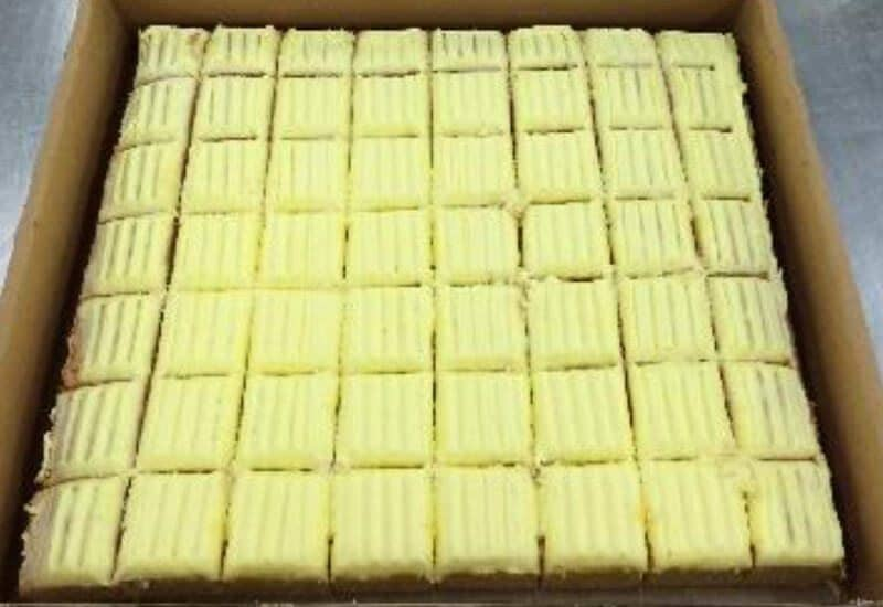 Sponge Lemon Icing Half Slab